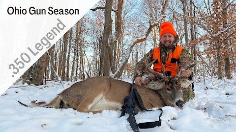 Ohio Gun Season 10 Point Buck in the Snow | .350 Legend