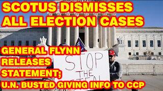 General Flynn Statement; Arizona Audit; Durham Resigns & Supreme Court Dismisses
