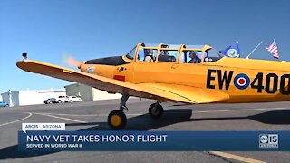 Navy veteran takes honor flight