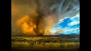 Firenado caught on camera near Reno