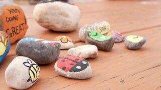 Lansing couple paints, hides kindness rocks across city