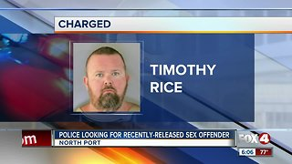 Police search for sex offender in North Port