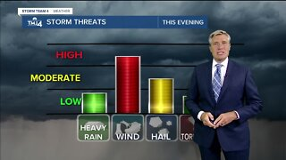 Severe weather moves into area