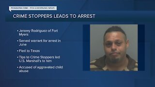 Crime Stoppers top fugitive arrested