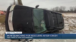 Mom searching for rescuers after Macomb County crash