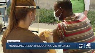 Managing breakthrough COVID-19 cases
