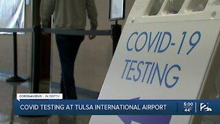 COVID-19 testing at Tulsa International Airport