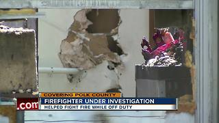 Polk Fire captain feeling the heat after risking his life while off duty