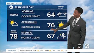 Metro Detroit Weather Forecast: Drier and milder today
