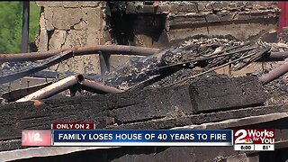 Family loses house of 40 years to fire