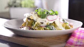 Chilaquiles Greens with Radish and Cotija Cheese