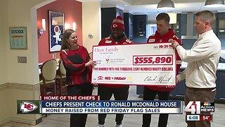 Chiefs present check to Ronald McDonald House