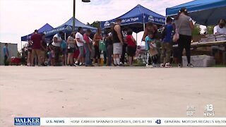 Long line for back to school event