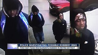 Police trying to determine if 5 recent fast food robberies across metro Detroit are connected