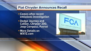 Fiat Chrysler announced recall of vehicles