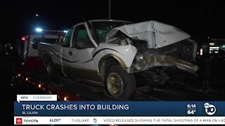 Driver jumps out just before truck slams into El Cajon building