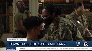 Town hall educates military members