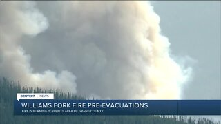 Williams Fork Fire grows Saturday to 4,145 acres, with 0% containment