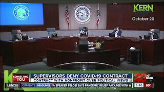 Supervisors deny COVID-19 contract with nonprofit over political views