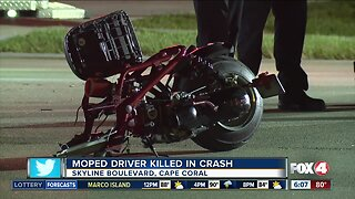 Moped driver killed in Cape Coral crash Thursday night