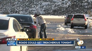 Icy, deadly conditions on mountain roads