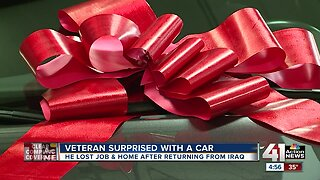 Veteran surprised with a car