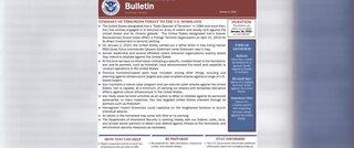 Terror advisory for United States