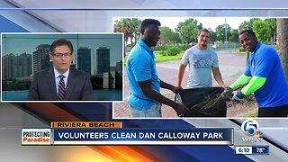 Volunteers clean Dan Calloway Park on Sunday