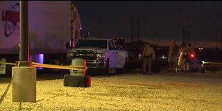 Vegas police investigate homicide scene at truck stop in Apex