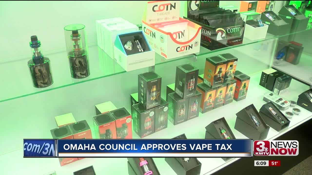 Omaha City Council approves vape tax