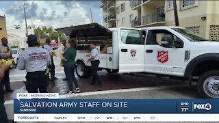 Salvation Army helps at Surfside