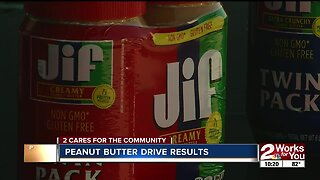 Peanut Butter drive results