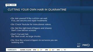 Cutting your hair during quarantine