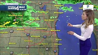 Showers continue Friday with highs in the 50s