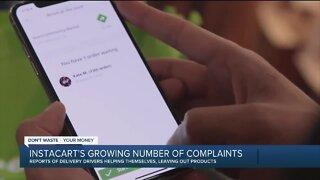 Instacart's growing number of complaints
