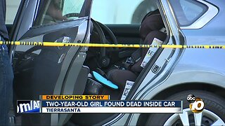 Two-year-old girl found dead inside car