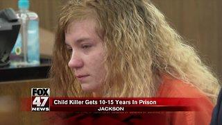 Jackson woman sentenced 10-15 years for killing baby