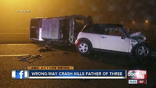 Father killed in wrong-way crash