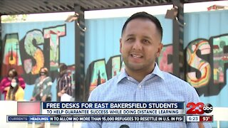 Free desks given to East Bakersfield Students in need