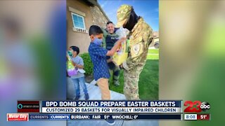 BPD Bomb Squad prepares Easter baskets