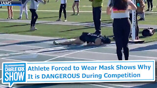 Athlete Forced to Wear Mask Shows Why It is DANGEROUS During Competition