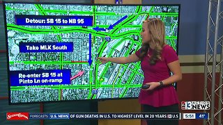 FREEWAY CLOSURE: SB 15 from Spaghetti Bowl to Charleston will be closed all weekend long