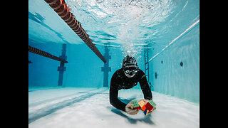 Man Solves Five Rubik's Cubes Underwater In One Breath