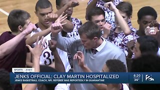 Jenks basketball coach Clay Martin hospitalized