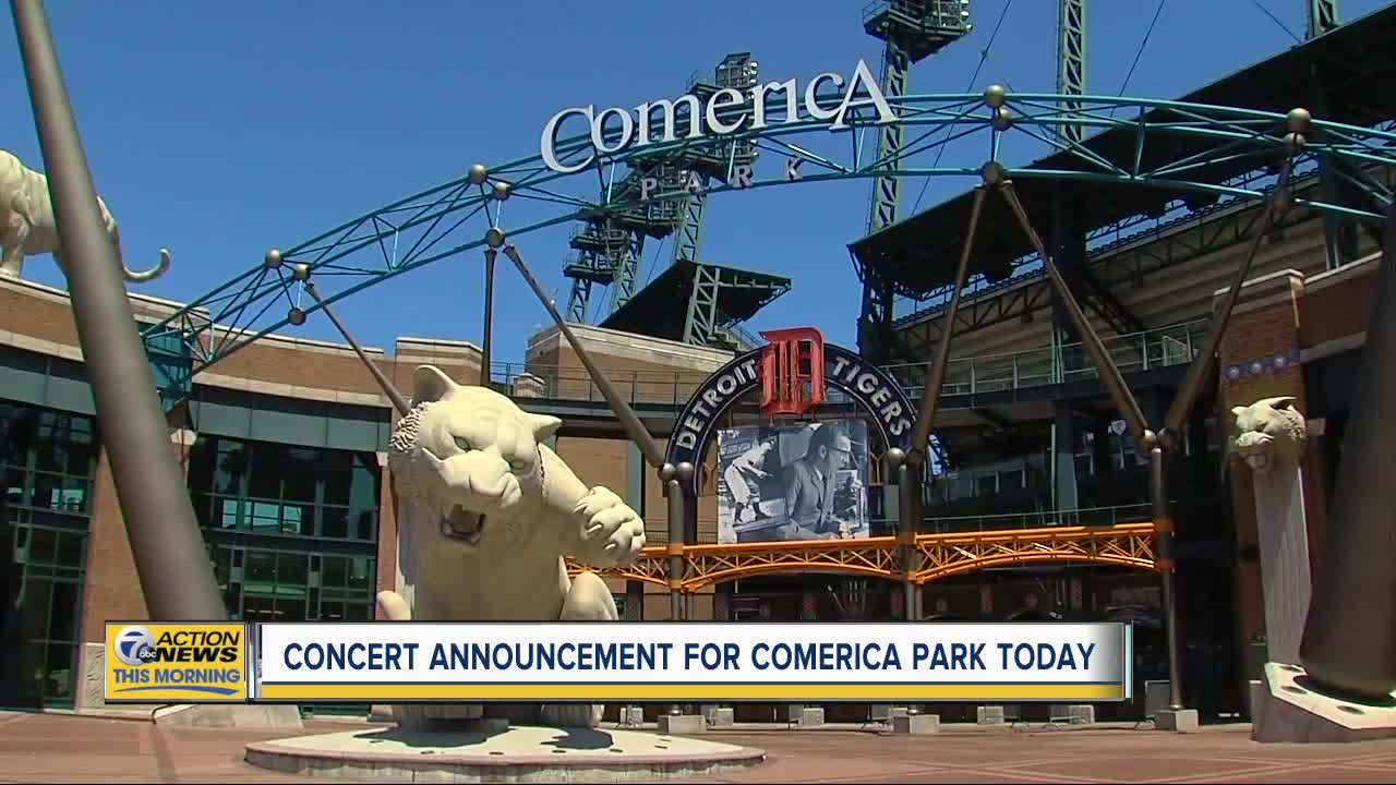 Concert announcement for Comerica Park today