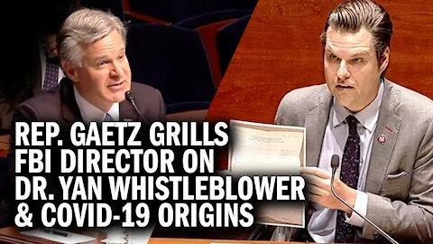 Gaetz Goes Head-to-Head With FBI Director Wray on COVID-19 Origins