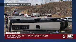 1 dead, 42 injured after tour bus crashes near Grand Canyon Skywalk