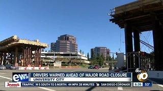 Drivers prepare for major University City road closure