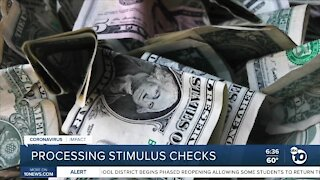 Processing stimulus checks