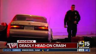 Deadly crash in Phoenix early Friday morning